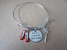 Wizard of Oz There's No Place Like Home Charms Bangle Bracelet New in Gift Bag