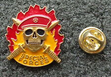 Russian Special Forces SPETSNAZ Badge SKULL RED  BERET badge pin HEAVY