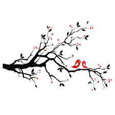 Love Heart Tree Bird Removable Vinyl Wall Decal Sticker Art Mural Home Decor
