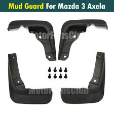 4Pcs Mud Splash Flap Guard Fender For Mazda 3 Axela 4Dr Mudguards 2014 2015 2016