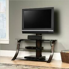 Sauder Veer Panel Tv Stand With Tv Mount 413906 Sgs Non-Wood Finish NEW