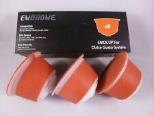 3CAPSULES FOR DOLCE GUSTO RECHARGEABLE REFILLABLE REUSABLE COFFEE EMOHOME