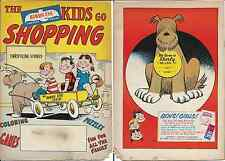 THE BIRDS EYE KIDS GO SHOPPING RARE GIVEAWAY PROMO COMIC 1958 VG/VG- FOODS