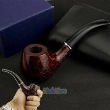 New Wooden Enchase Smoking Pipe Tobacco Cigarettes Cigar Pipes Gift Durable USA