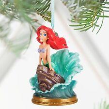 2016 Disney Store Ariel The Little Mermaid Singing Sketchbook Christmas Ornament