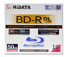 Ridata BD-R DL 50GB Inkjet Printable Blu-Ray Video Ridata Media Ritek Bluray