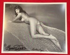 50's Bettie Page Nude Hand Signed 8x10 PinUp Photo By Bunny Yeager With COA