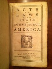 RARE 1784 Acts Laws State Connecticut, early American imprint, Manuscript notes