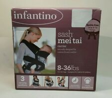 Infantino Sash Mei Tai Baby and Toddler Carrier 8-36 lbs - Black & Gray