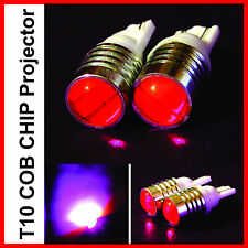 Pink Projector Lens T10 COB Chip LED Light for Car Bike Parking, Pilot Lamp Bulb