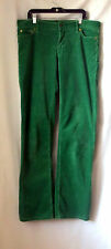 J Crew 10 Tall Corduroy Pants Trousers Green Holiday