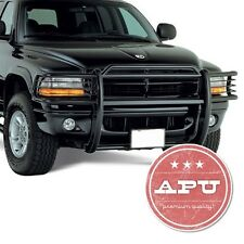 Fits 94-01 Dodge Ram Grille Bumper Brush Guard Push Bar Black + Fog Lights
