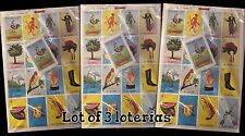 "3 LOT Jumbo 9x14"" Large Mexican Loteria Bingo Game Card Low Vision Education Fun"