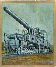 N°201 World War French Railgun Artillery Reichswehr Germany WWI 30s CHROMO
