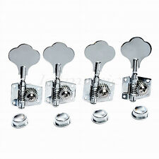 Bass Guitar Tuning Pegs Keys Tuners Machine Heads Open Gear Vintage 4R Chrome