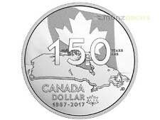 1 $SPECIAL PROOF SILVER DOLLAR Home and our native paese Canada 2017 PP ARGENTO