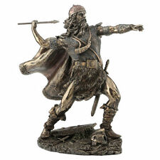 "7.5"" Viking Warrior Tossing Spear Statue Sculpture Norse Figure Figurine Decor"