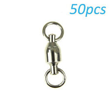 50 X 3# New Terminal Tackle Ball Barrel Bearing Swivel Solid Rings for Fishing