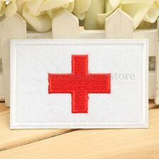 Traditional Red on White Medic Red Cross Paramedic Patch Sticker Iron on Sewing