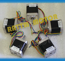 【USA Stock】 5Pcs Nema17 78oz-in Stepper Motor 48mm 1.8A for Milling CNC Router
