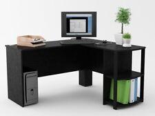L Shaped Corner Computer Student Desk Laptop Workstation Desks Home Office Wood