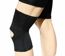 XXX-Large Black Spiral Stay Compression Support Knee Brace with Open Patella