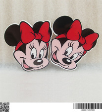 5 x 39MM MINNIE MOUSE RED BOW LASER CUT FLAT BACK HEADBANDS BOWS CARD MAKING