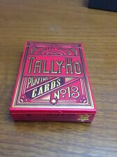 Unnumbered Unwrapped Sealed Scarlett Tally Ho Limited Edition Playing cards