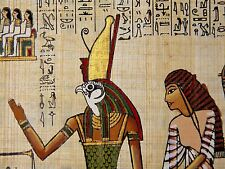 PAINTING ANCIENT EGYPTIAN MURAL DETAIL HORUS KING DEITY GOD HAWK POSTER BMP10020