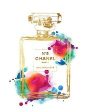 CHANEL NO 5 PERFUME WATERCOLOUR ART IMAGE A4 Poster Gloss Print Laminated