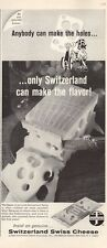 1964 Switzerland Swiss Cheese PRINT AD