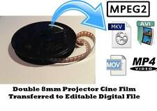 Double 8 8mm Cine Projector Film To DIGITAL FILE TRANSFER SERVICE Frame Scan