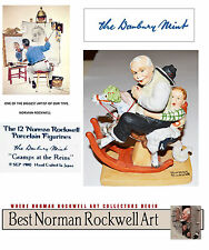 1980 DANBURY MINT, NORMAN ROCKWELL GRAMPS AT THE REINS. PORCELAIN. USA SELLER.