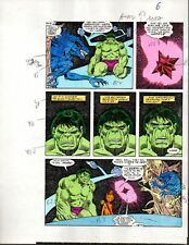 Original 1985 Marvel Incredible Hulk color guide art page 6: Sal Buscema/1980's