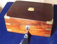 Una hermosa, antigüedad Victoriano De Palo De Rosa Latón obligados por escrito Caja. solo 99P comienzo!