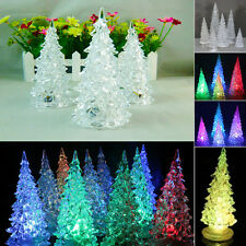 Color Changing Crystal LED Christmas Tree Decoration Night Light Lamp Xmas Gift