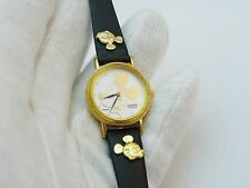 MICKEY MOUSE,Disney,RARE! Fluted Bezel Disney Band, LADIES/KIDS WATCH,802,L@@K!