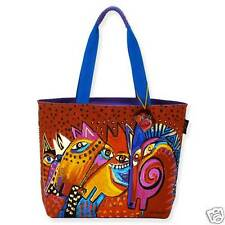 Laurel Burch Laughing Mares Horse Canvas Large Tote Bag Handbag New