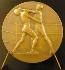 Médaille Boxe Boxing sc Henry Dropsy sport fight ring combat  c 1930 medal