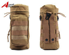 Tactical Molle Zipper Water Bottle Utility Medic Pouch w/ Small Mess Pouch Tan