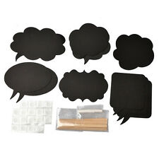 10 Chalkboard Cardboard Signs Speech Bubbles Photo Booth Props Wedding Party