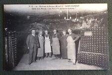 CPA. SAINT FLORENT. Environs de SAUMUR. 49 - Caves Maison BOUVET LADUBAY. VIN.