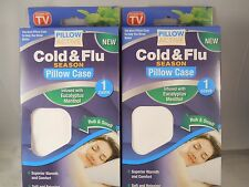 Pillow Active Cold and Flu Pillow Case authentic as seen on tv  (2pk bundle)