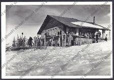 VERBANIA NOVARA MOTTARONE 179 RIFUGIO CAI OMEGNA - SCI SKI - REAL PHOTO 1951