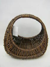 New Dark Willow Wicker Small Oval Shopping Basket Childs Childrens