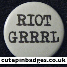 "Riot Grrrl Badge (25mm/1"") Pin Button Punk Grunge Feminist Fanzine DIY Alt Boi"