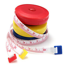 3Colors Sewing Craft Tailor Flat Tape Body Clothes Measure Ruler Free Case 150cm