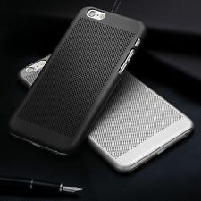 Ultra Slim Premium Black Mesh Rubber Hard Plastic Back Case Cover For iPhone 6S