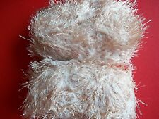 Mill End Assortment Fashion Plus bulky fuzzy yarn, camel, lot of 2