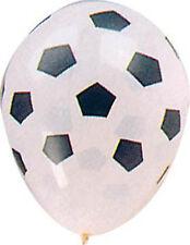 10 BALLONS Blanc décor FOOT Décoration DECOS Salle FETE/ARIAGE COUPE DU MONDE